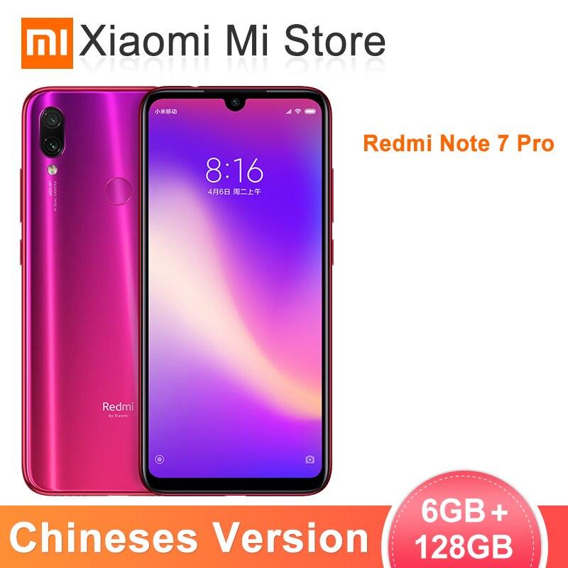 Global ROM Xiaomi Redmi Nota 7 Pro 6GB 128GB ROM Snapdragon 675 Núcleo octa 48MP + 5MP Note7 câmera dupla 6.3
