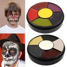 Лучшая краска для лица и тела пигментная масляная краска ing 6 цветов Искусство Макияж инструменты для Хэллоуина вечерние QQ99