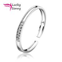 Must Have Luxury Bracelet 925 Sterling Silver Bracelets For Women Solid Silver Cuff Bangle Moving CZ Bracelet & Bangles Joyerias