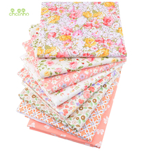 Chainho,8pcs/lot,Orange Floral Series,Printed Twill Cotton Fabric,Patchwork Cloth,DIY Sewing Quilting Material For Baby&Children
