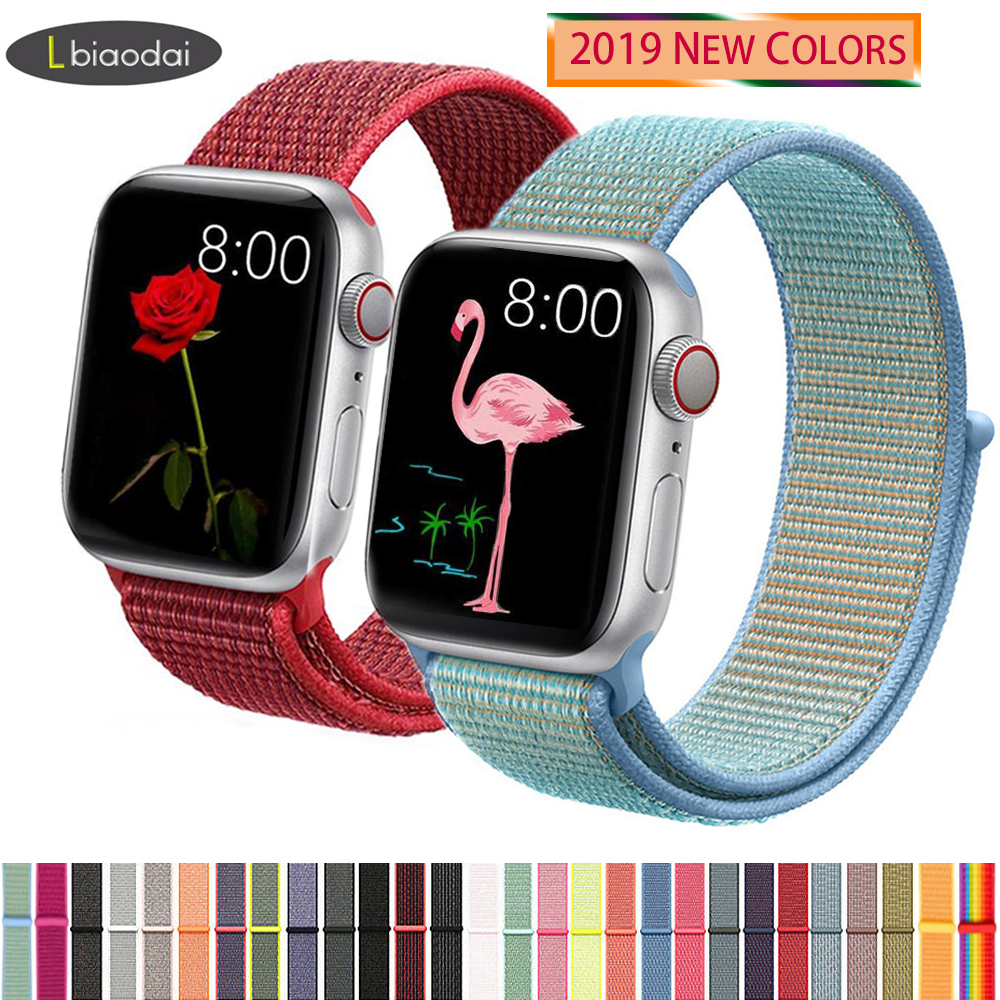Nylon Strap For Apple Watch Band 44mm 40mm IWatch 4 5 Band 42mm 38mm Sport Loop Belt Bracelet Apple Watch 5 4 3 2 Accessories