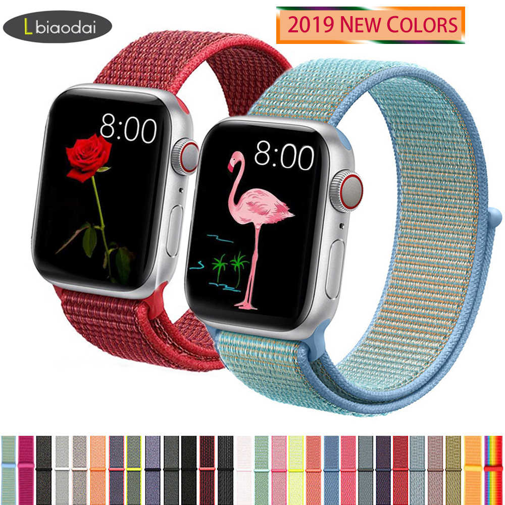 Nylon strap For Apple Watch band 44mm 40mm iWatch 4 band 42mm 38mm Sport loop belt Bracelet Apple watch strap 3 2 1 Accessories