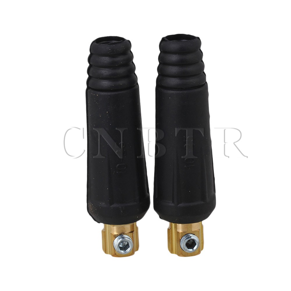 CNBTR 2 Pcs Durable Fitting Cable Connector Plug DKJ10-25 Welding Machine Connection dkj35 50 quick fitting male cable connector plug adaptor 315a welding machine