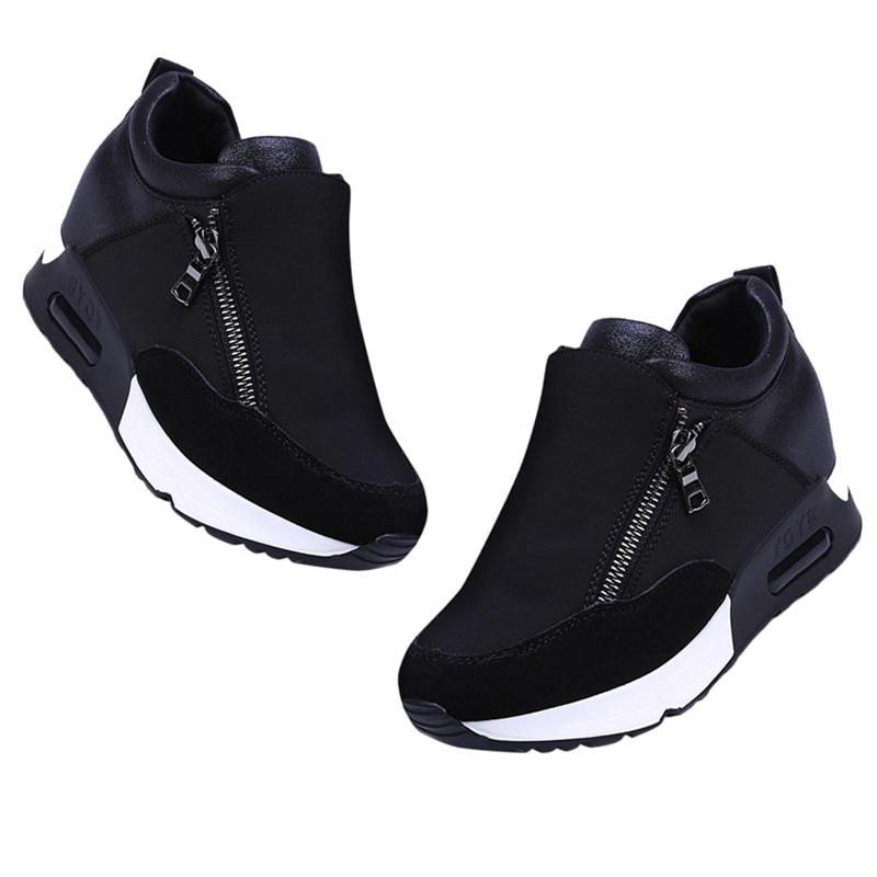 bb3d59c9c0c Comprar 2018 Venta caliente zapatillas de deporte mujeres amortiguación  estabilidad Slip On de cremallera de goma de estabilidad de la moda de las  mujeres ...