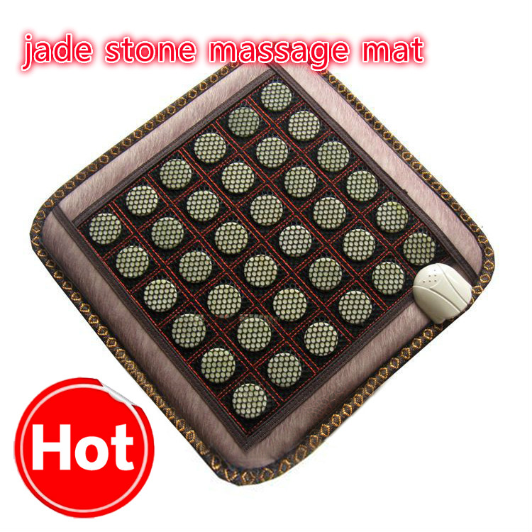 2017 NEW Natural Jade Tourmaline Stones Infrared Heating Mat Jade Stone Massage Mat 2017 new natural jade germanium tourmaline stones infrared heating mat natural jade facial beauty massage tool jade roller