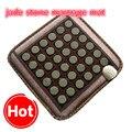 2017 NOVO Jade Natural Pedras de Turmalina Infravermelho Aquecimento Mat Esteira de Massagem com Pedras De Jade