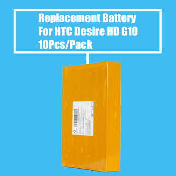 New Arrival 10pcs/Pack 1230mah Replacement Battery for HTC Desire HD G10 A9191 T9199 T9188 T8788 High Quality