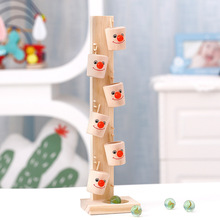 Montessori Toys Educational Wooden Toys for Children Early Learning Wood Tree Marble Ball Run Track Intelligence Game