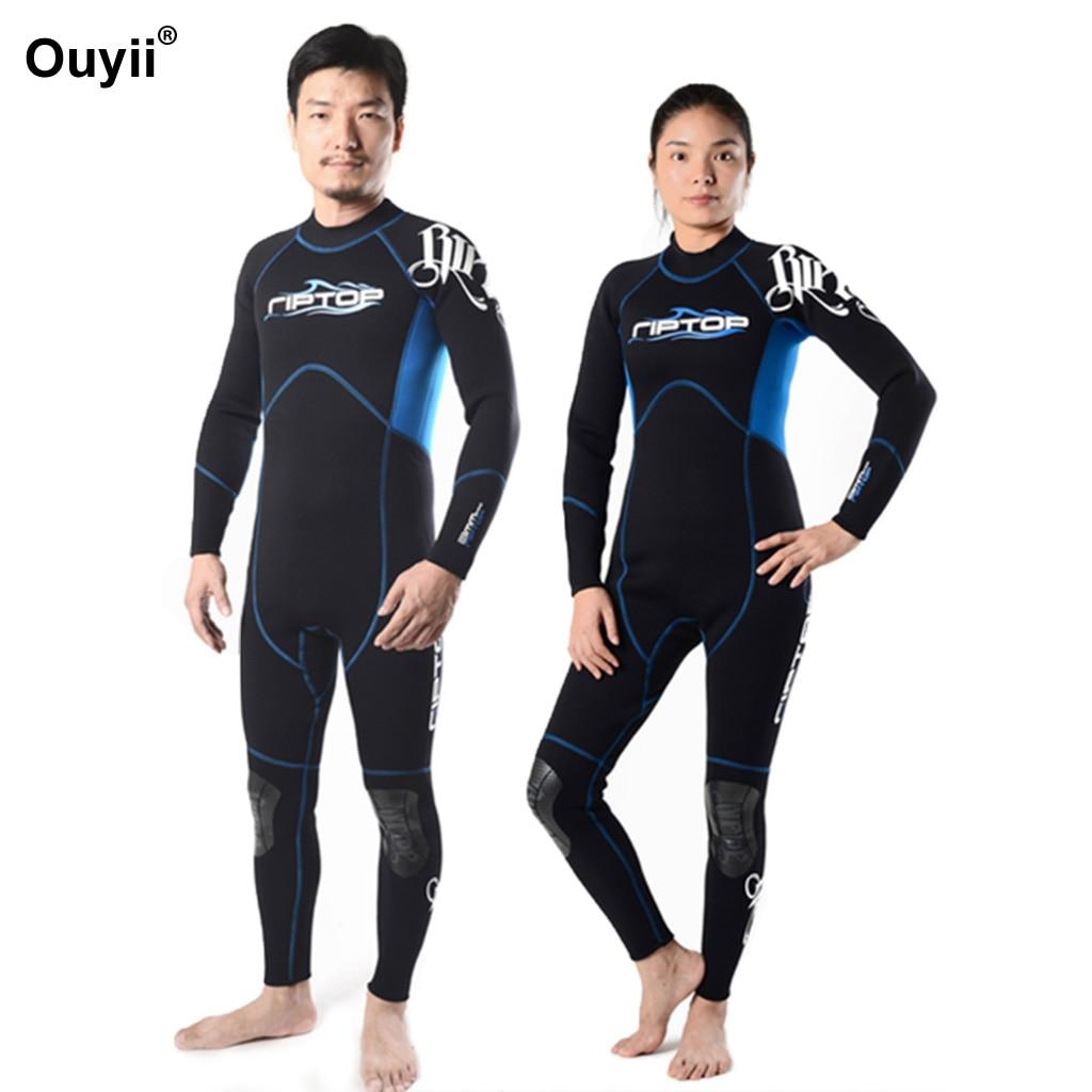 Women&Men Wetsuit Full Body Scuba Diving Suit Wet Suit Long Sleeve Surf Suit Jumpsuit Swimwear Rash Guards Snorkeling Swimsuit