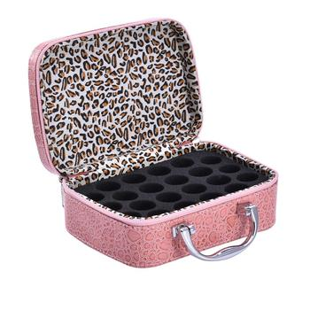 24Grid Roller Bottles Essential Oil Case Portable Carry Holder Storage Aromatherapy Bag Artificial leather Storage bags 2018