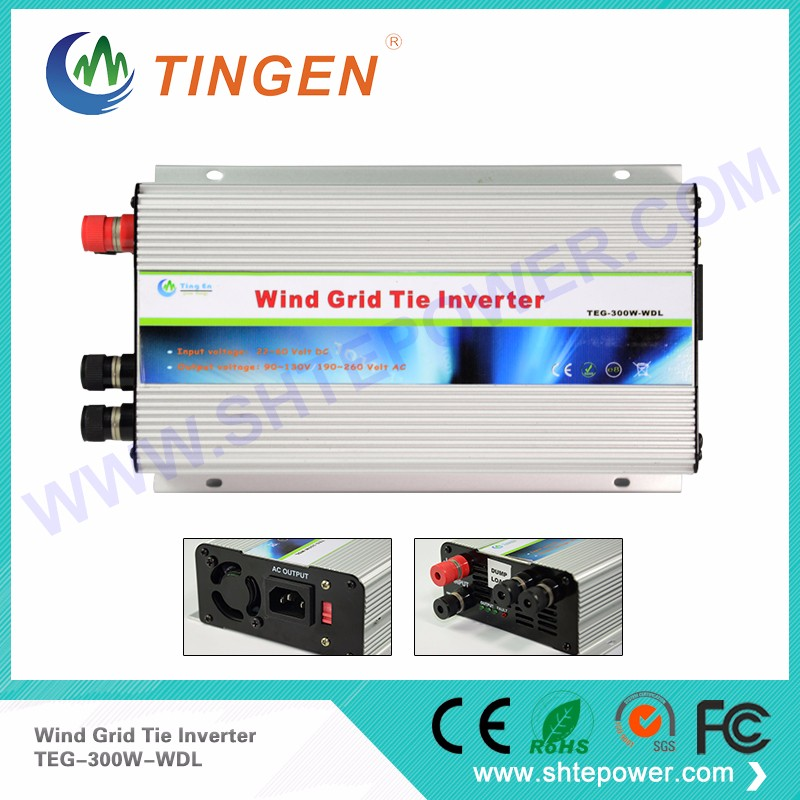 цена на DC 22-60v to ac 120v 300w tie grid wind inverter with pure sine wave