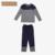 Qianxiu Pijamas Para Hombres Modal Patchwork Hombres Pijama de Dormir Más Tamaño Salón Desgaste