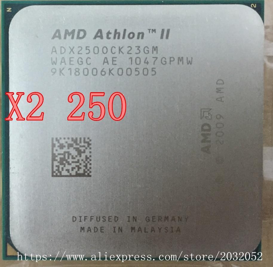 Процессор AMD Athlon II X2 250 процессор 3.0 ГГц/2 МБ L2 Кэш/Socket AM3 двухъядерный Процессор (работа 100% бесплатная доставка)