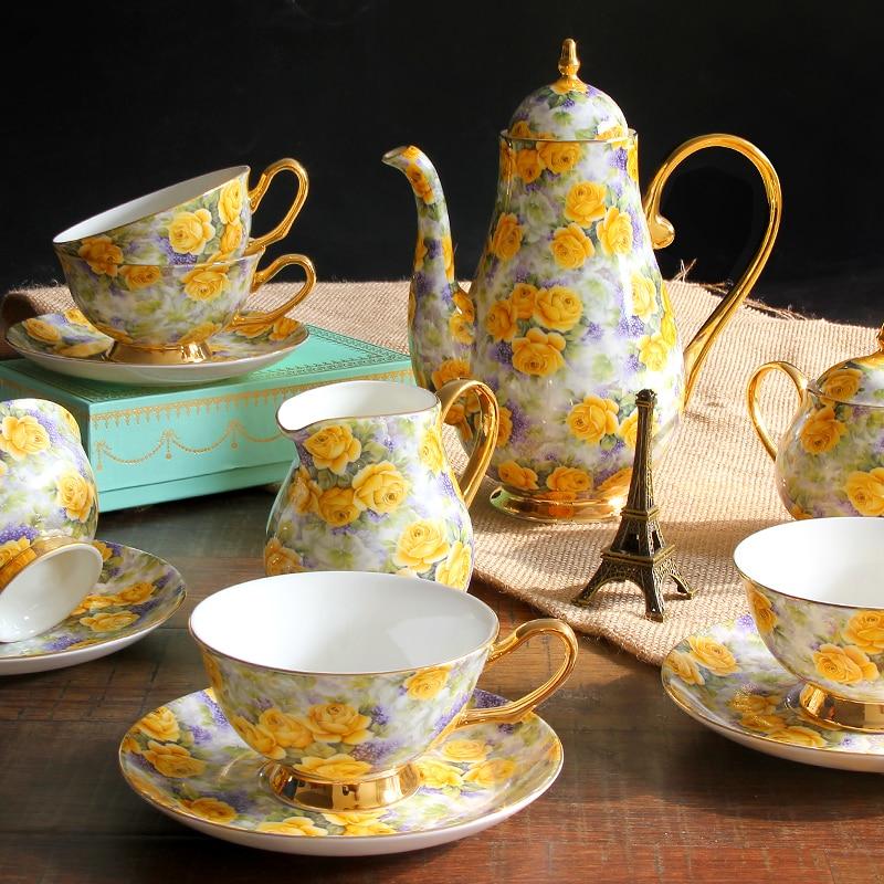 15 pcs set fashion bone china Tea Set gift regal vintage