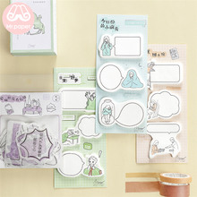 Mr Paper 60pcs/lot 6 Colors Cartoon Figure Dialog Box Memo Pad Sticky Notes Notepad Diary Creative Self-Stick Note Pads