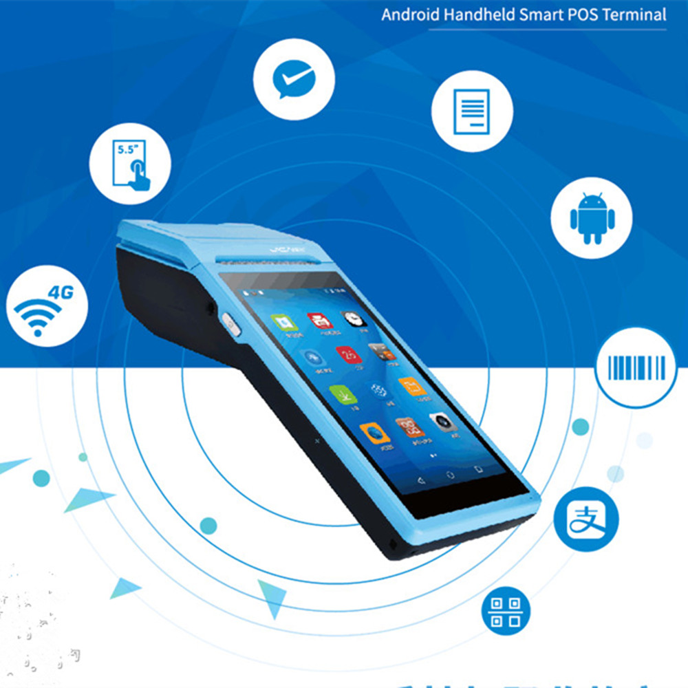 GOOJPRT PDA Android 6 0 Mobile Handheld POS Terminal Pos Thermal Printer 58mm Wireless Bluetooth Camera
