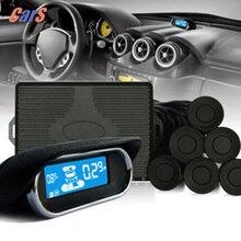 8 Датчики Парковки с ЖК-Дисплеем Monitor Автомобиля Парковочный Радар Системы Электромагнитного Парковка Помощник Инструмент