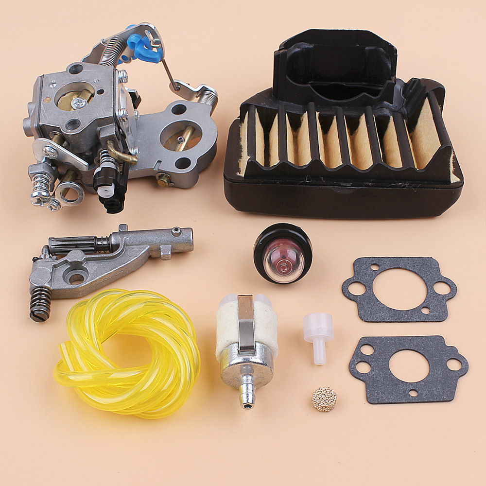 US $33 26 |Carburetor Oil Pump Air Filter Fuel Tank Vent Kit for Husqvarna  460 461 455 Rancher Jonsered CS2255 Chainsaw Walbro WTA 29 Carb-in