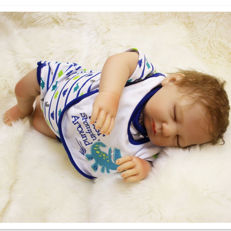 18'' Silicone Reborn Baby Dolls Newborn Baby Alive Dolls for Girls Christmas Gifts,Realistic Reborn Baby Sleeping Dolls Juguetes