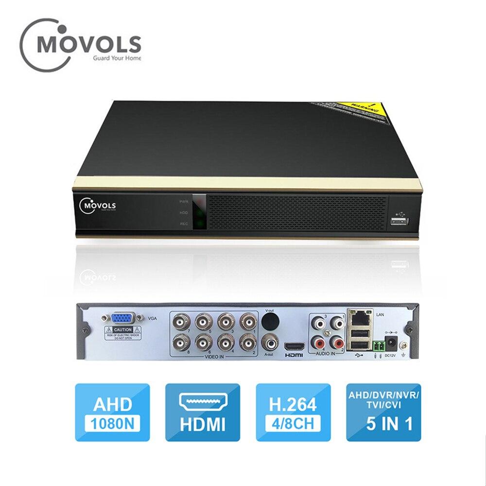 Movols 8CH 1080N 5 IN1 H.264 AHD DVR Digital Video Recorder para CCTV HDMI 1080 P Suporte De Saída de Vídeo Analógica AHD Câmera IP