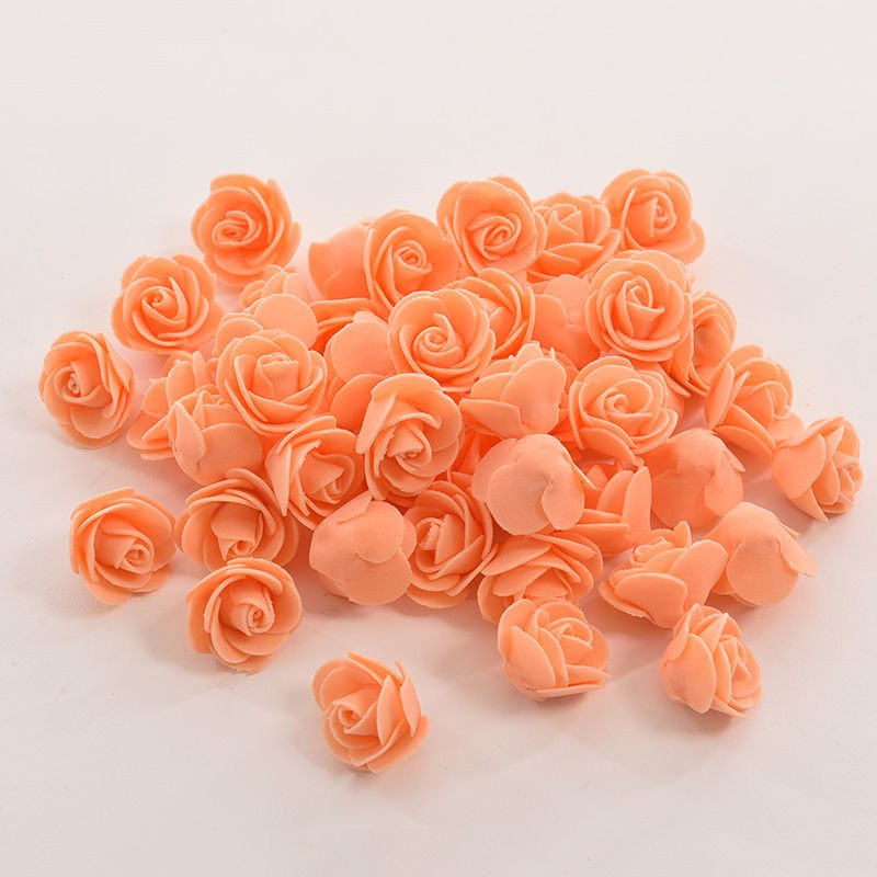 50 pcs mini pe foam rose artificial flowers for wedding car 50 pcs mini pe foam rose artificial flowers for wedding car decoration diy pompom wreath decorative valentines day fake flowers in artificial dried junglespirit Choice Image