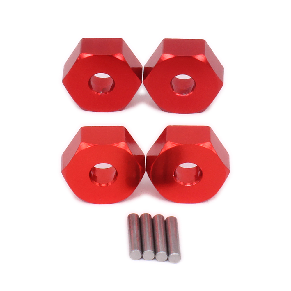 RCAWD Alloy Wheel Hex Hub Adaptor For RC Hobby Model Car 1-12 <font><b>Wltoys</b></font> <font><b>12428</b></font> 12423 Monster Truck Short Course Off-Road Update Part image