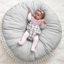 Детский коврик для ползания, ватный шарик, толстый Детский ковер для новорожденных, круглый мягкий игровой коврик, детская комната, мягкая подушка для дивана