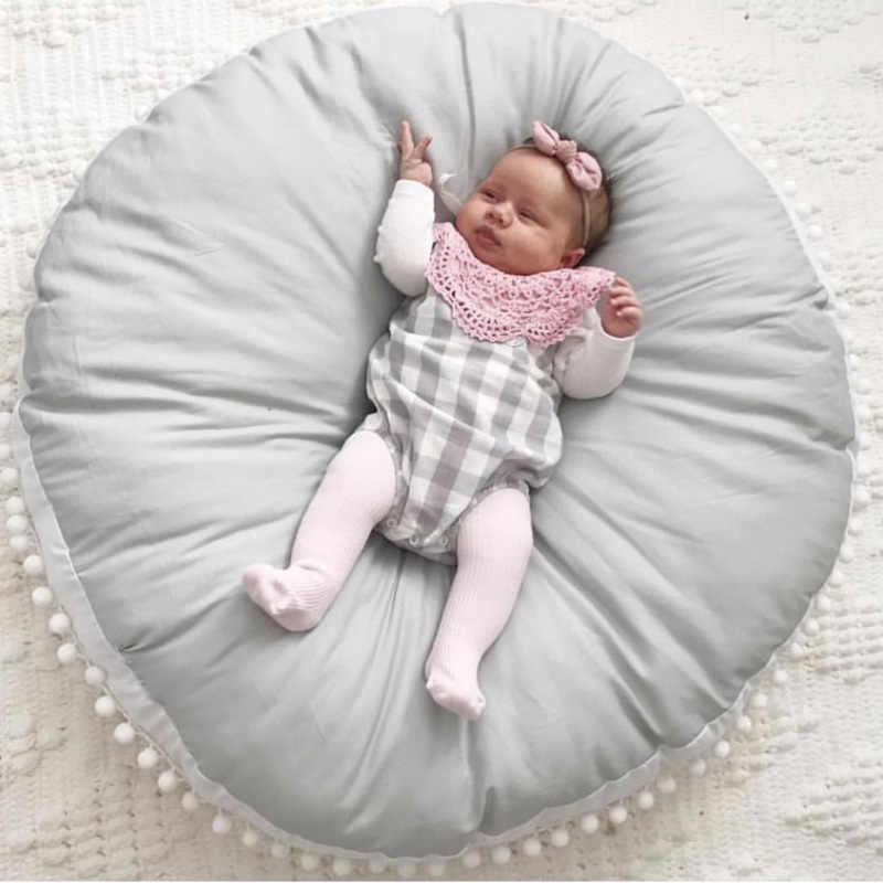 เด็ก Pad Crawling ผ้าฝ้ายผ้าขนสัตว์หนาเด็กทารกแรกเกิดพรมรอบเกมเล่นเสื่อสำหรับเด็ก Decora Soft ทารกโซฟาเบาะ