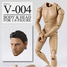 "Veryhot 1/6 Scale Male Body Narrow Shoulder For 1:6 1/6 Scale Head Sculpt 12"" Action Figure PVC V-004 Chris Hottoys Carving Set(China)"