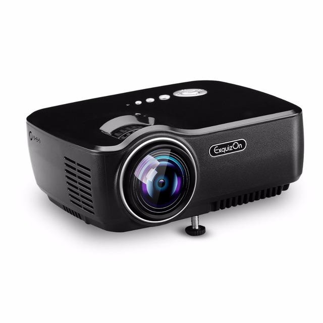 d731769ac9 Exquizon GP70 LCD Projector AV IN SD USB VGA HDMI Home Theater Beamer  800 480 Support 1080P Proyector for business presentations