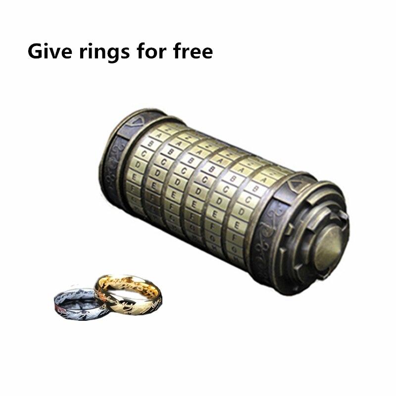 Tout métal Cryptex saint valentin présent noël mariage amoureux se marier cadeau Educationa serrures idées jouets amusants Leonardo da Vinci - 5
