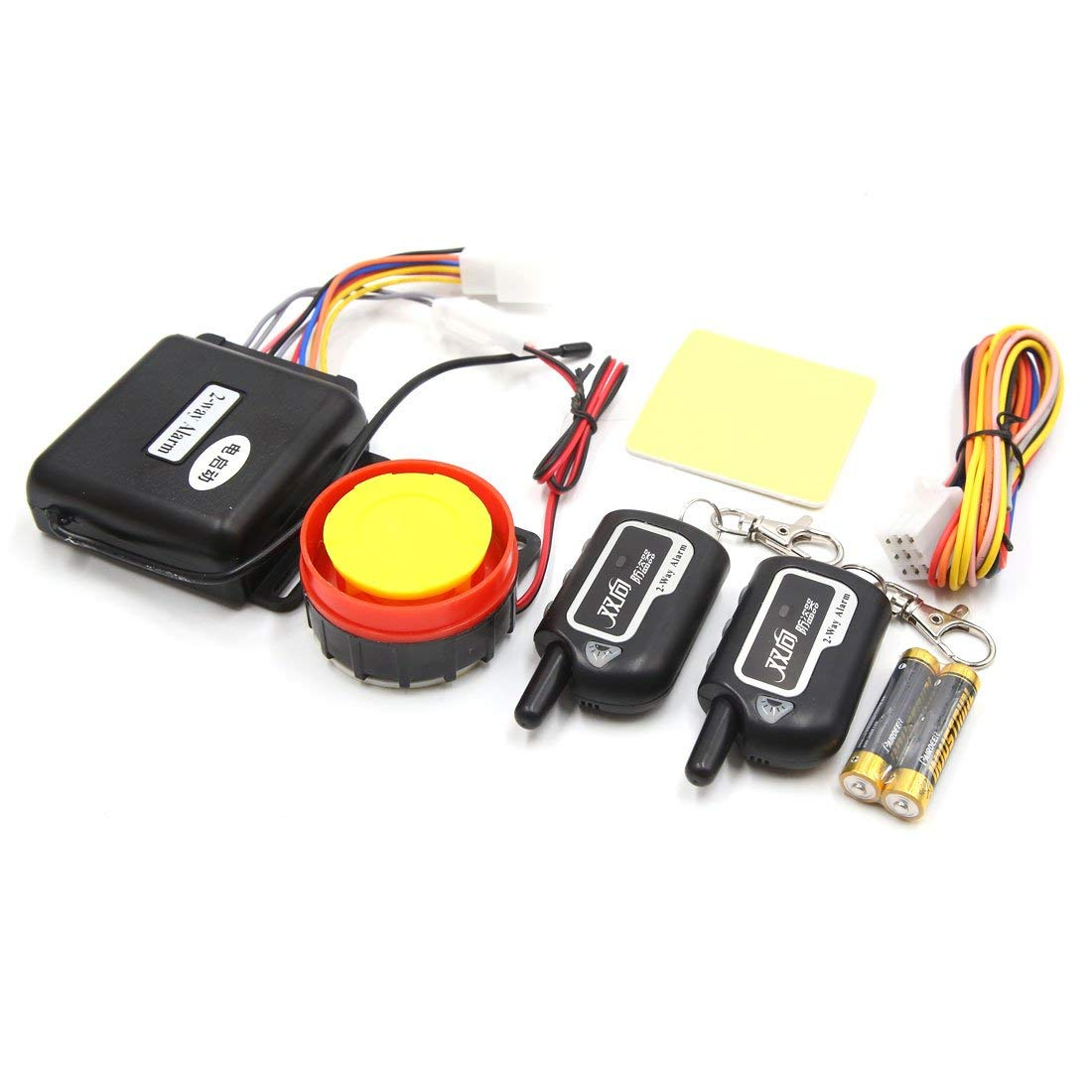 Uxcell 2-Way Motorcycle Anti-Theft Alarm System Engine Start W Remote Control 125dB