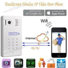 Глобальный Smart Wi-Fi IP видео звонок с сенсорным экраном клавиатурой для смартфонов и планшетов, Wireless Mobile видео-телефон двери