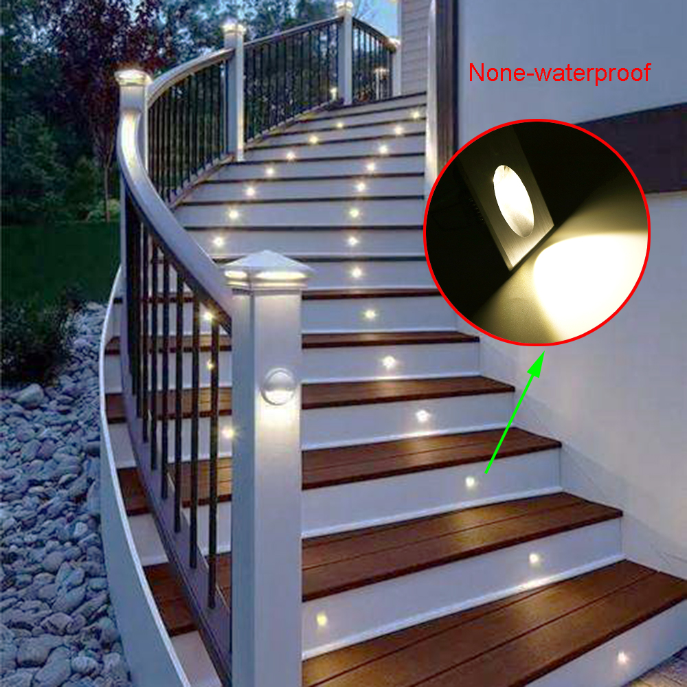 Modern Led 1X3W square wall lamps for stairs /step /foyer wall corner garage Energy Saving lights with free shipping CA