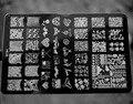 2017 NUEVO 14.5*9.5 CM HK Gran Nail Art Sello de Imagen Plate Raspador Plantillas DIY Nail Polish Art Manucure herramientas HK-05, envío libre