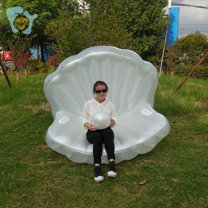 Kidlove Inflatable Seashell Pool Float Giant Inflatable Clam Shell With Pearl Swimming Tool For Adults Mother & Kids