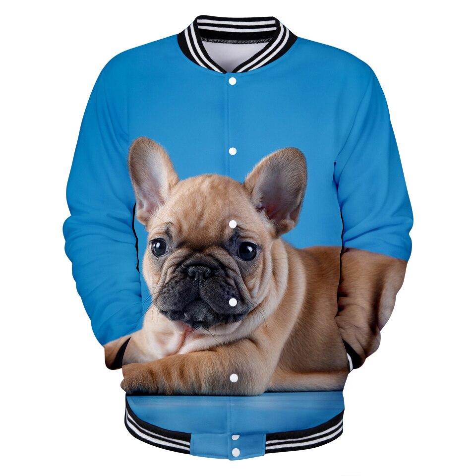 Französisch Bulldog 3d Gedruckt Baseball Jacken Frauen/männer Mode Langarm Jacke 2019 Heißer Verkauf Casual Trendy Streetwear Kleidung