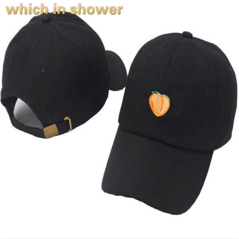 Peach Dad Hat For Women Men Cotton Embroidery Juicy Peach Baseball Cap Hip Hop Vintage Snapback Trucker Cap Bone Drop Shipping