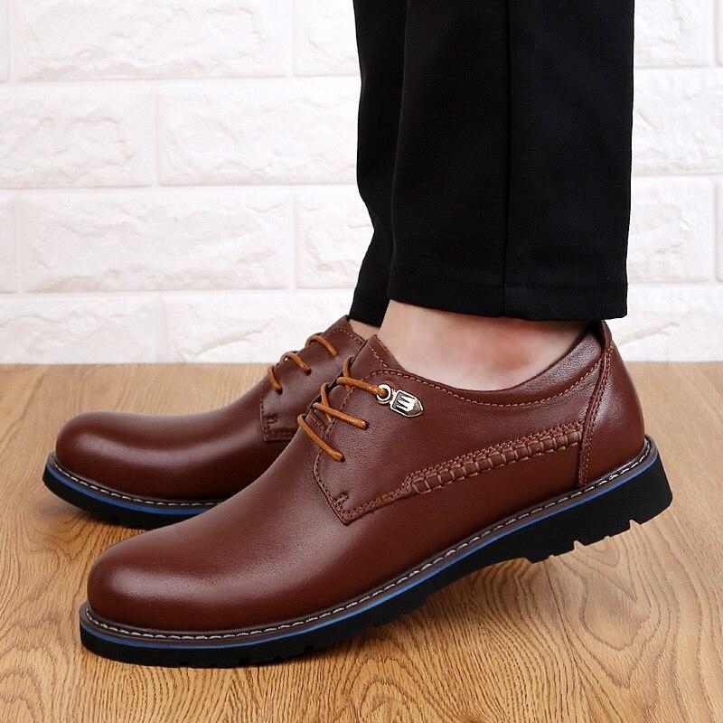 D'affaires Plus Hommes Robe Haute Respirant Qualité Brown Chaussures De Véritable Lace 3848 black Up Taille Cuir Casual Mode La En 43Lqj5AR