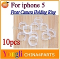 10pcs New Plastic Cap Seal Holder Bracket Ring for iPhone 5 5G Front Camera Repair Parts Front Camera Holding Ring Free shipping