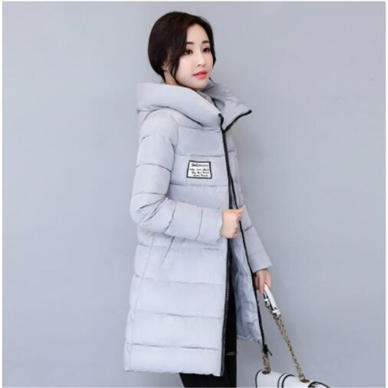 17275e205 Winter new down cotton-padded jacket women's long - style Korean v...