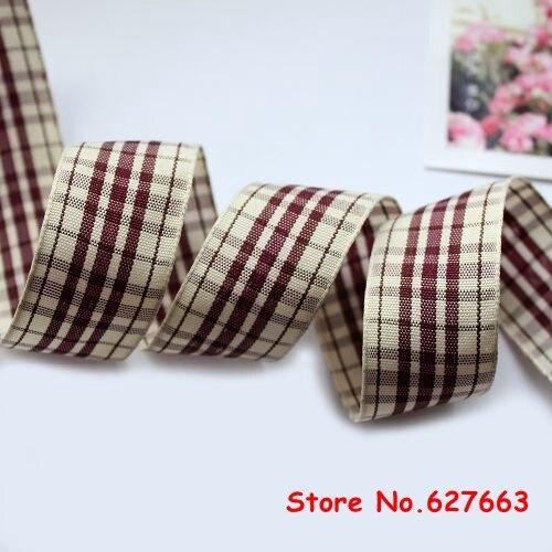 1 25mm width styles polyester scottish font b tartan b font ribbon gingham ribbon bow decorative