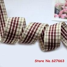 1 25mm width styles polyester scottish tartan ribbon gingham ribbon bow decorative