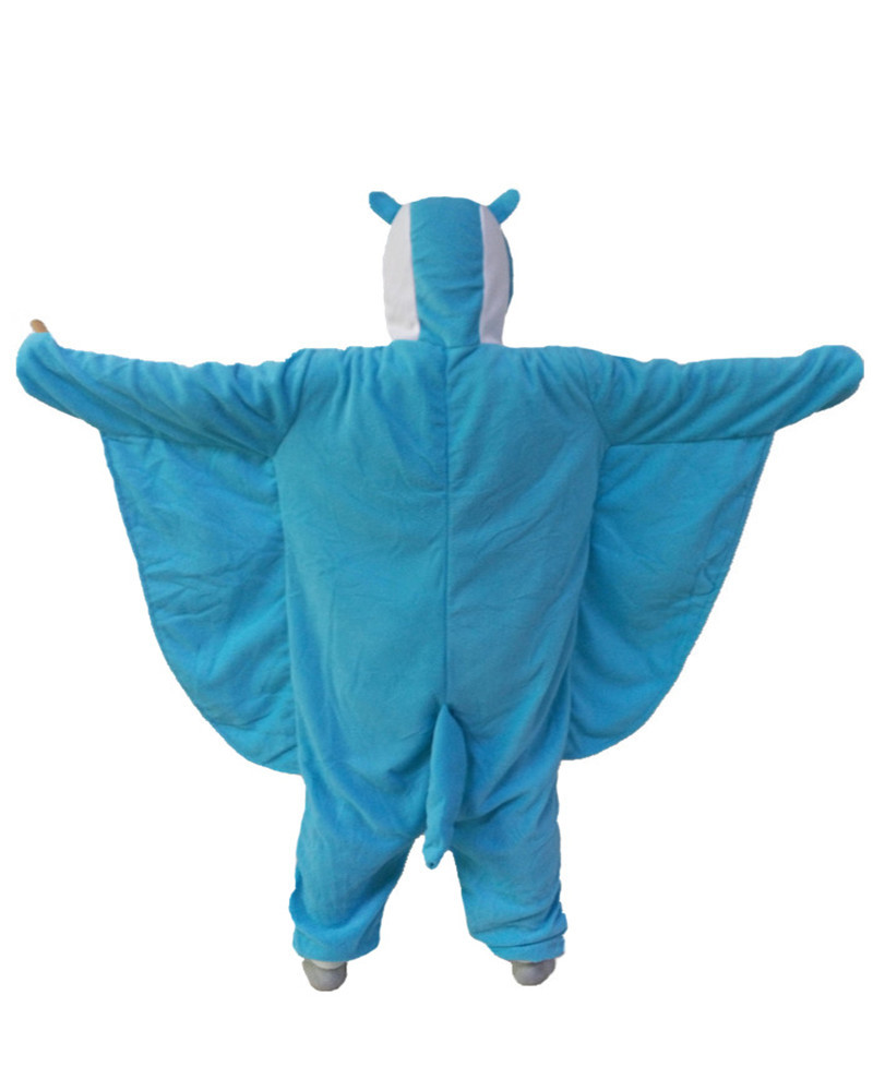 Flying Squirrel Cute Onesie Blue Romper Girls Jumpsuit Pyjamas Nightgowns Women Sleepwear Long Sleeve Size Chinese Market Online
