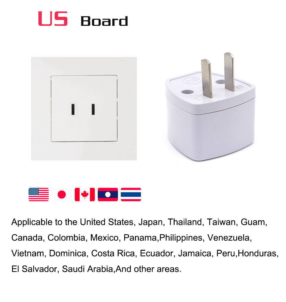 1PC Universal UK US AU EU AC Power Socket Plug Travel Electrical Charger Adapter Converter Japan China America Italy Switzerland (6)