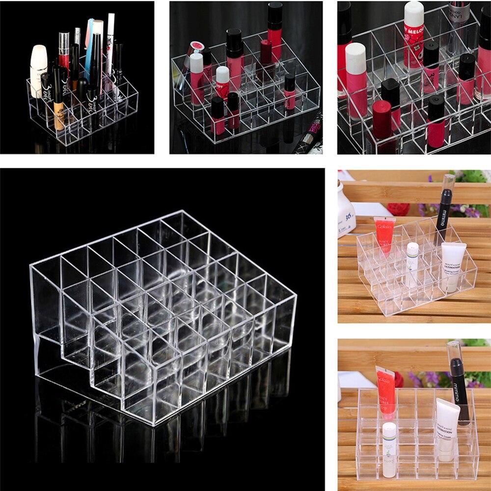 24 Grids Acrylic Lipstick Holder Cosmetics Multi-layer Box Make Up Tools Kit Beauty Accessories Display Kit