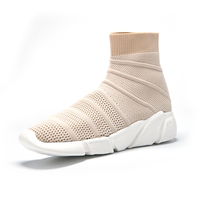 Women Casual Shoes Knit Upper Breathable Sock Boots Balencia Style Shoes High Top ShoesBreathable Mesh Female Sneakers Trainers