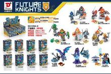 8pcs/set Nexus Knights Future Castle Warrior Building Blocks bricks Compatible kids Toys for children gifts