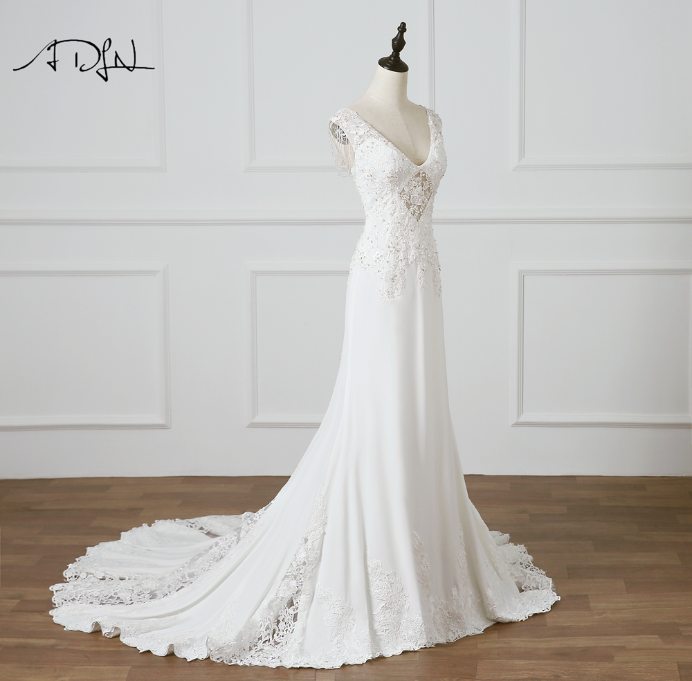 Aliexpress.com : Buy ADLN Sexy Illusion Bodice Wedding