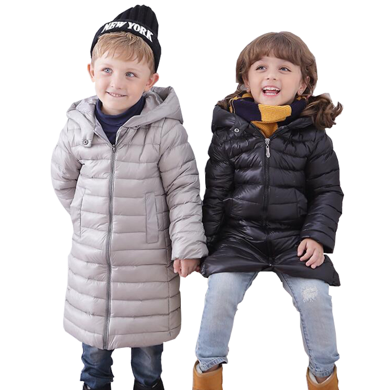 Boys Girl Winter Coat Children Thick Warm Waistband Jacket Fashion Casual Cotton Long Clothing Teenage Zipper Outerwear Clothes pregnant women of han edition easy to film a word long woman with thick cotton padded clothes coat quilted jacket down jacket